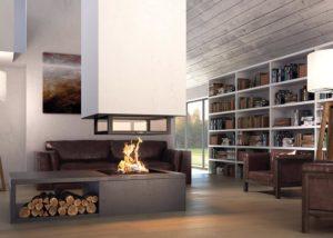 Projet de cheminée Flamme et Création