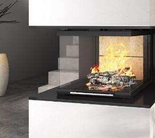 Vue 3D image de synthèse d'une cheminée