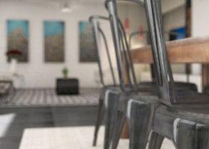 Salon en rendu 3D